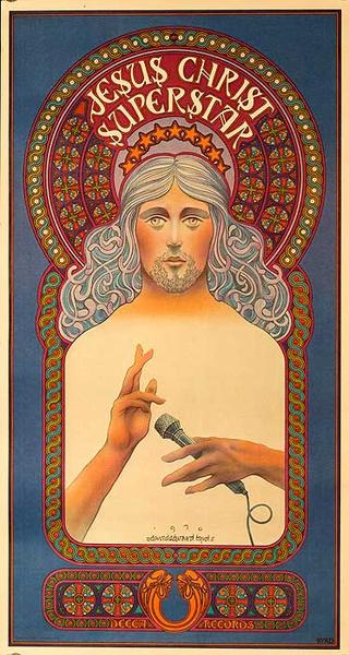 Jesus Christ Superstar Original David Bydd Theatre Poster HAND SIGNED