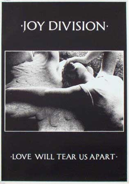 Joy Division Original Rock and Roll Poster Love Will Tear Us Apart
