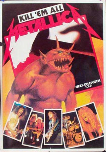 Metallica Original Rock and Roll Poster Kill Em All