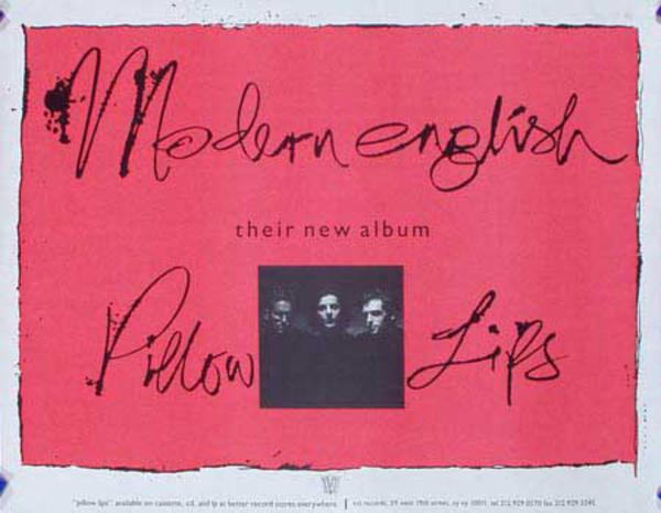 Modern English Original Rock and Roll Poster
