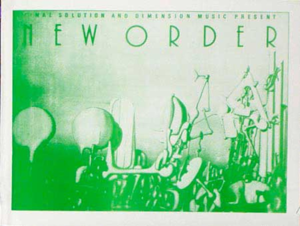 New Order Original Rock and Roll Poster Final Order And Dimension Music Present