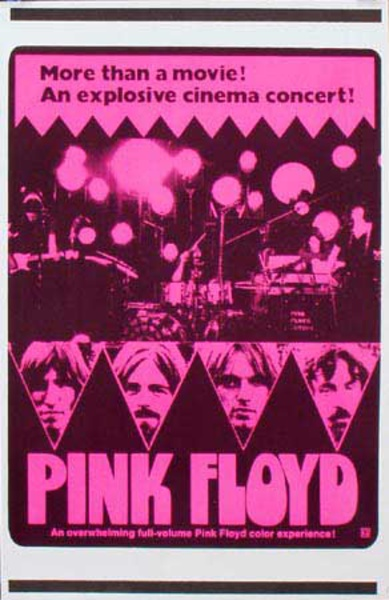 Pink Floyd Original Rock and Roll Poster More Than A Movie