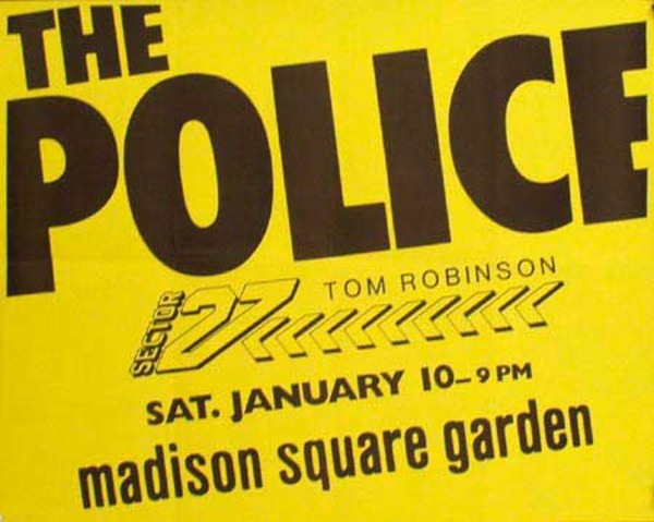The Police Original Rock and Roll Concert Poster Madison Square Garden