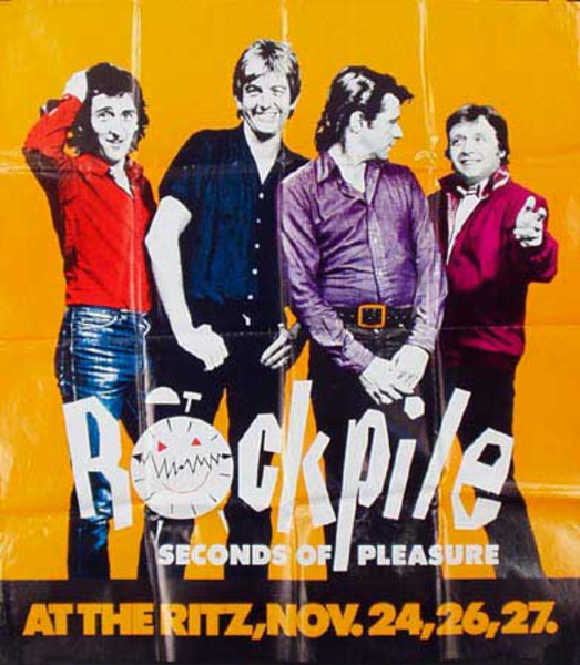 Rock Pile At the Ritz Original Vintage Rock and Roll Poster