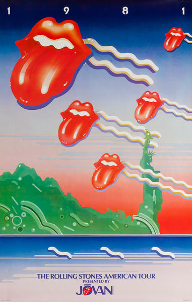 Rolling Stones 1981 American Tour Presented by Jovan Original Rock and Roll Poster