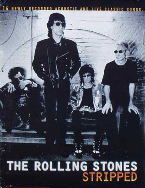 The Rolling Stones Stripped Original Rock and Roll Poster