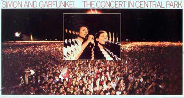 Simon And Garfunkle Original Rock and Roll Concert Poster The Concert in Central Park