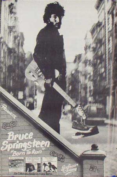 Bruce Springsteen Original Rock and Roll Poster Born to Run