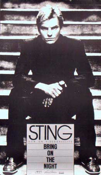 Sting Original Rock and Roll Poster Bring On The Night Now on Videocassette