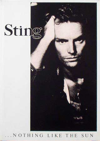 Sting Original Rock and Roll Poster Nothing Like the Sun