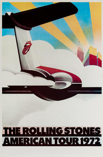 Rolling Stones Original Rock and Roll Poster American Tour 1972