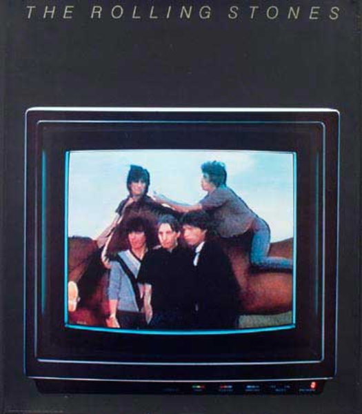 Rolling Stones Original Rock and Roll Poster TV Monitor