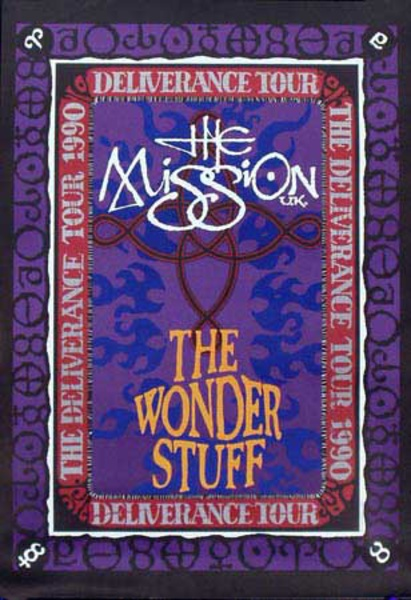 The Mission Wonderful Stuff Original Rock and Roll Poster