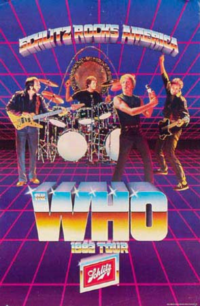 The Who Original Rock and Roll 1982 Tour Poster