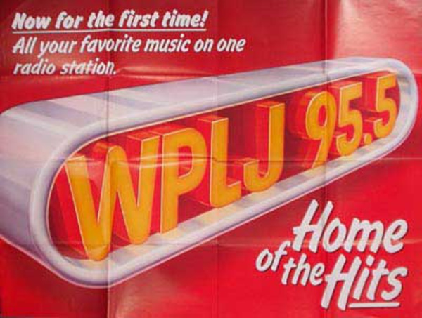 WPLJ Radio Original Vintage Music Advertising Poster