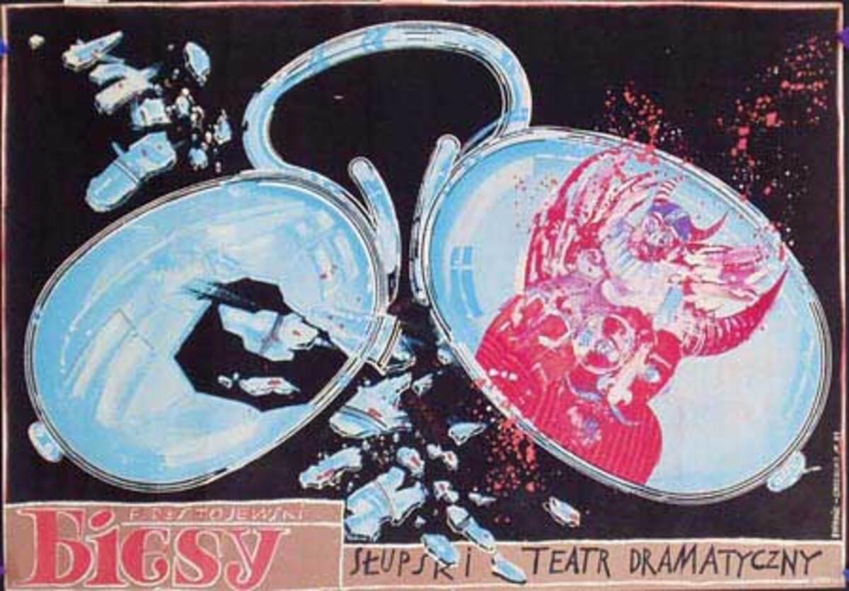 Biesy Original Vintage Polish Theatre Poster