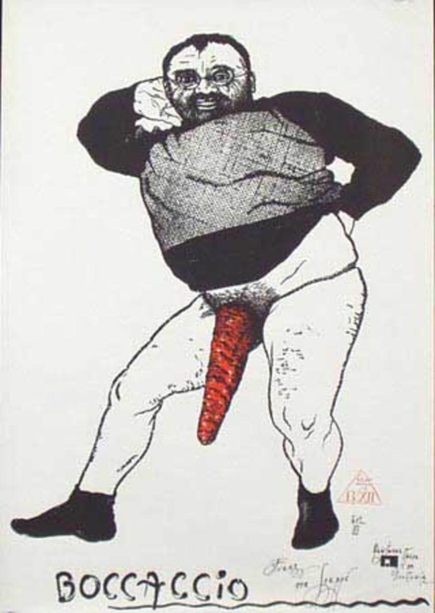 Boccaccio Original Vintage Polish Theatre Poster