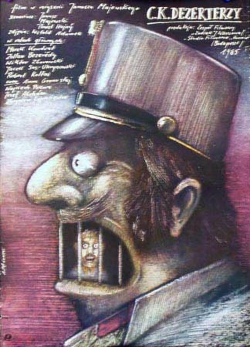 C K Dezerterzy Original Vintage Polish Theatre Poster