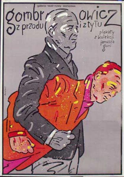 Gombrowicz Original Vintage Polish Theatre Poster