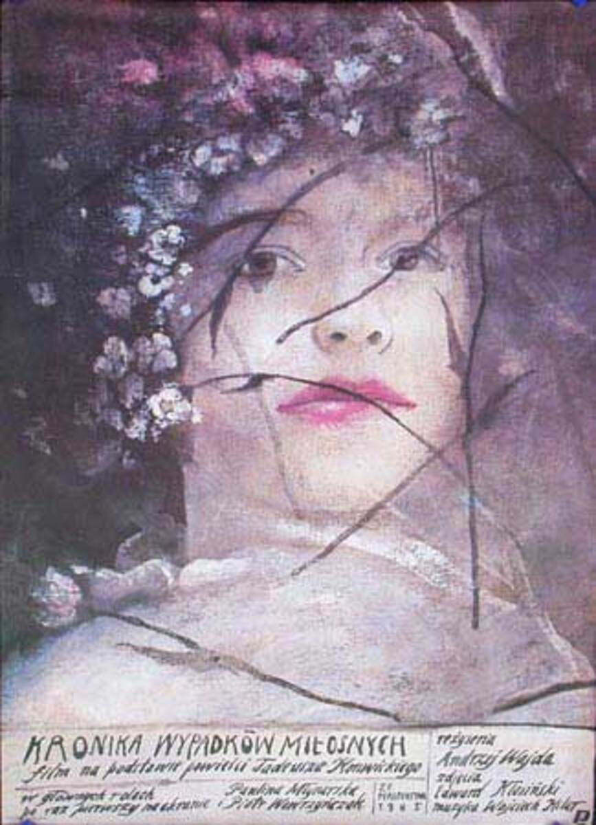 Kronica Wypadkow Mitosnych Original Vintage Polish Film Poster