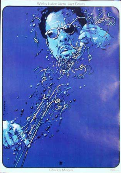 Charles Mingus Tribute Original Vintage Polish Music Poster