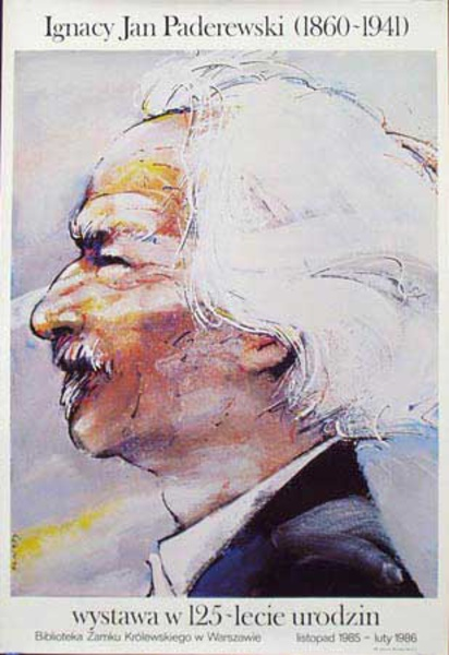 Jan Paderewski 1860-1941 Original Vintage Polish Music Poster