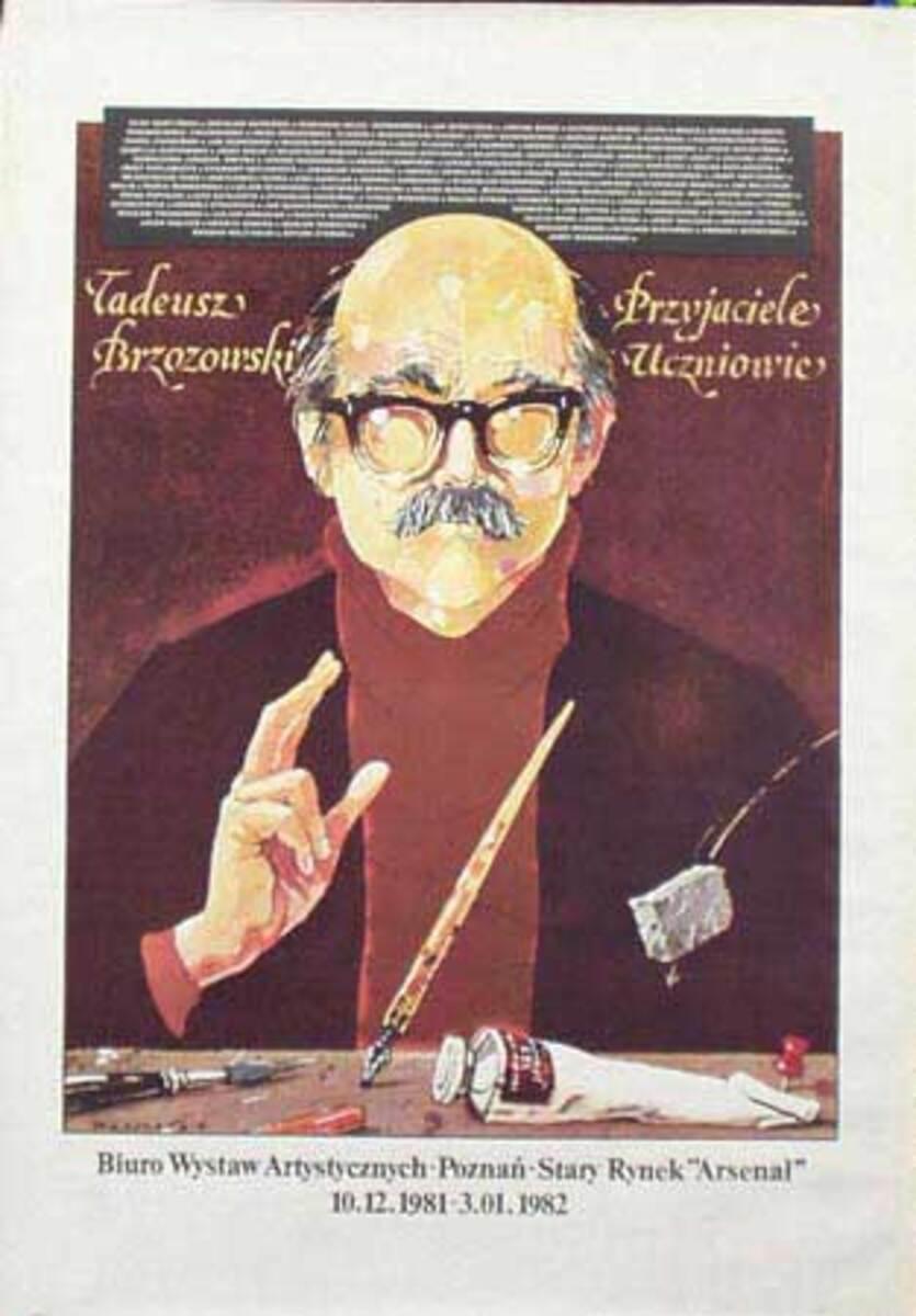 Tadeusz Brzozowski Arsenal Original Vintage Polish Theatre Poster