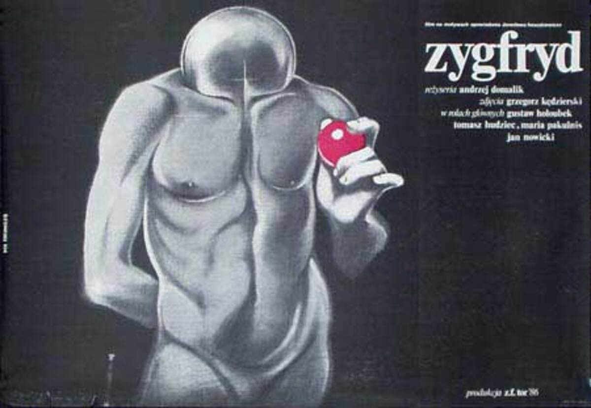 Zygfryd Original Vintage Polish Theatre Poster