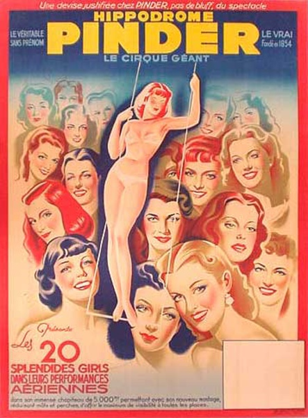 20 Splendid Girls Original Vintage Show Poster