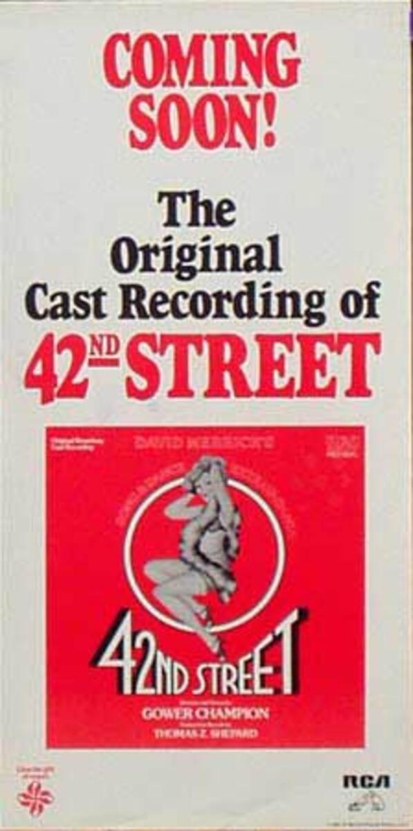 42nd Street Original Cast Recording Theatre Music Poster