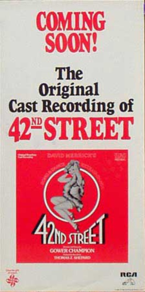 42nd Street Original Cast Recording Theatre Music Poster