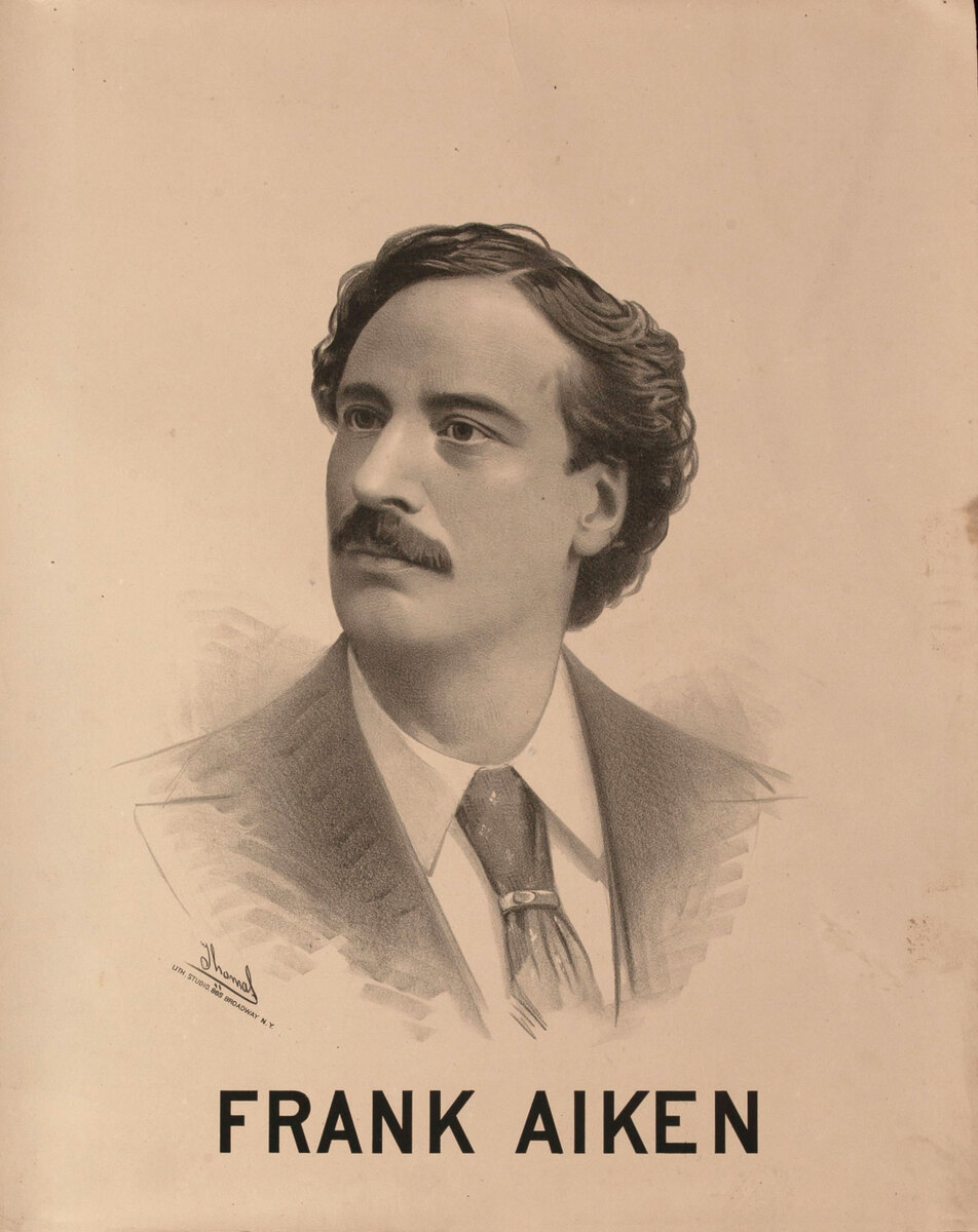 Original Vintage 19th Century Theatre Poster Frank Aiken