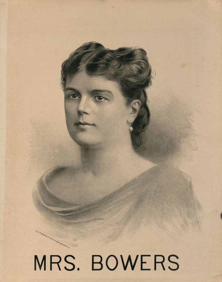 Original Vintage 19th Century Theatre Poster Mrs. Bowers