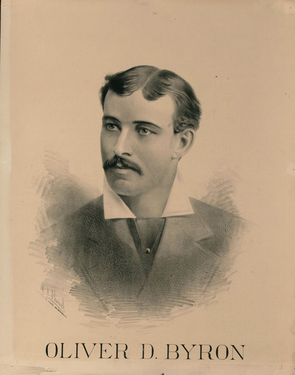 Original Vintage 19th Century Theatre Poster Oliver D. Byron