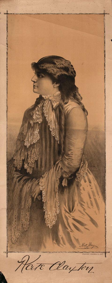 Original Vintage 19th Century Theatre Poster Kate Clayton