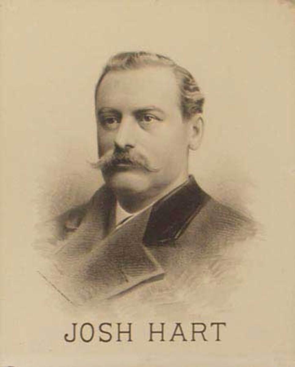 Original Vintage 19th Century Theatre Poster Josh Hart