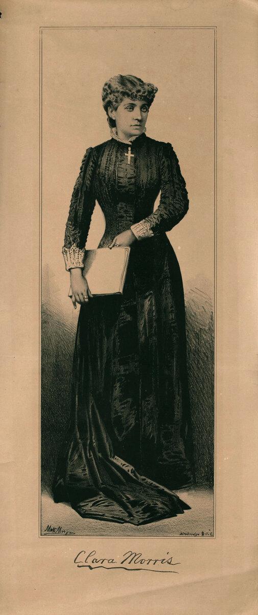 Original Vintage 19th Century Theatre Poster Clara Morris