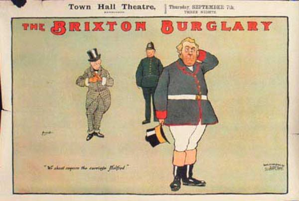 Brixton Burglary Original Vintage British Theatre Poster