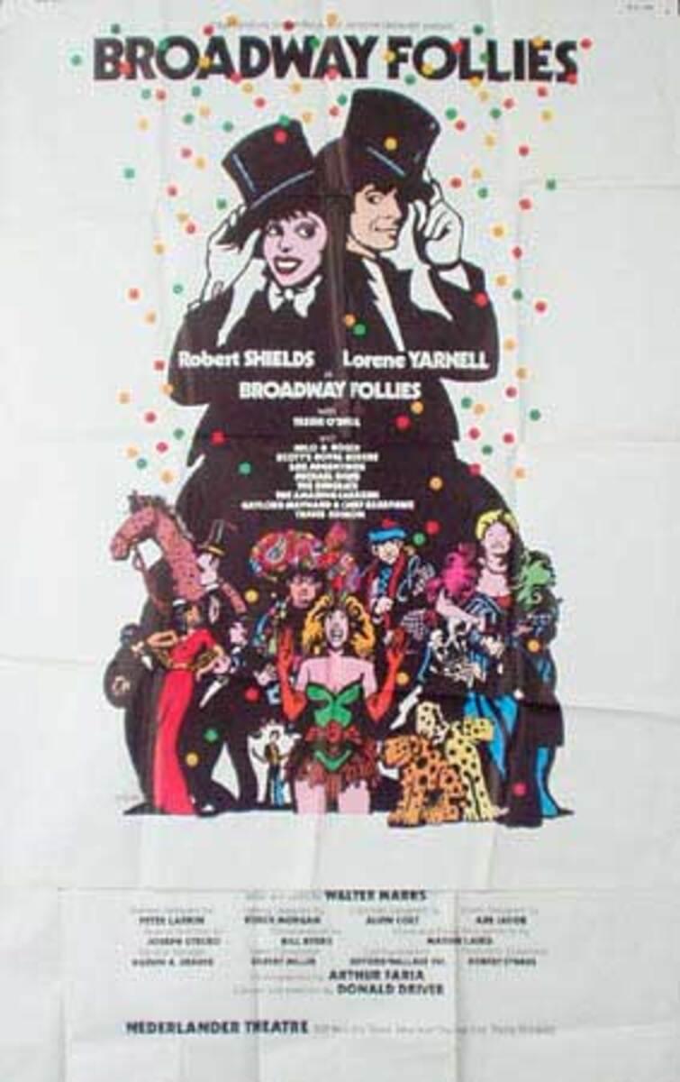 Broadway Follies Original Vintage Theatre Poster