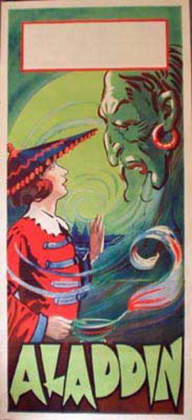 Alladin Original Vintage Theatre Poster