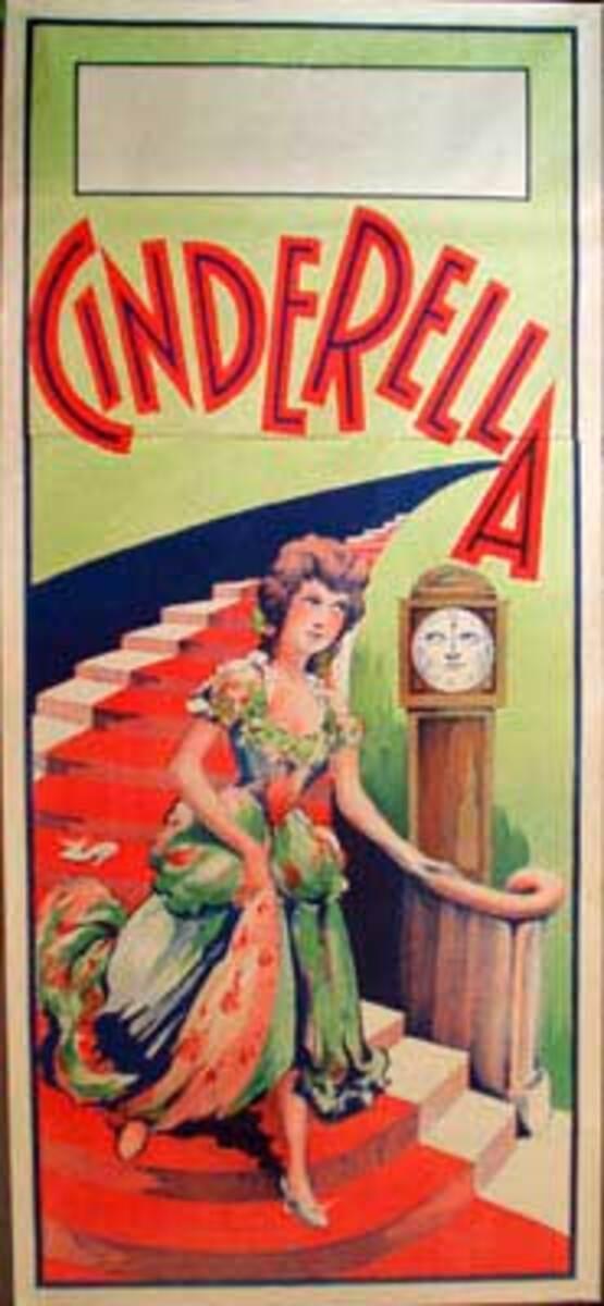 Cinderella Original Vintage Theatre Poster