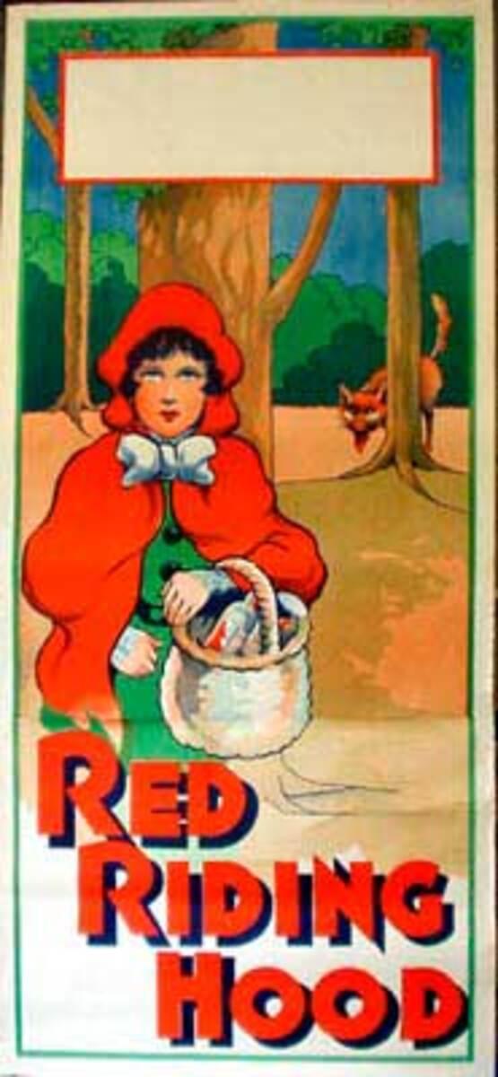 Red Ridinghood Original Vintage Theatre Poster