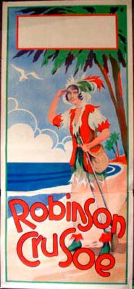 Robinson Crusoe Original Vintage Theatre Poster