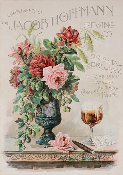 Original 1890s American Advertising Poster Jacob Hoffmann Brewing Company New York