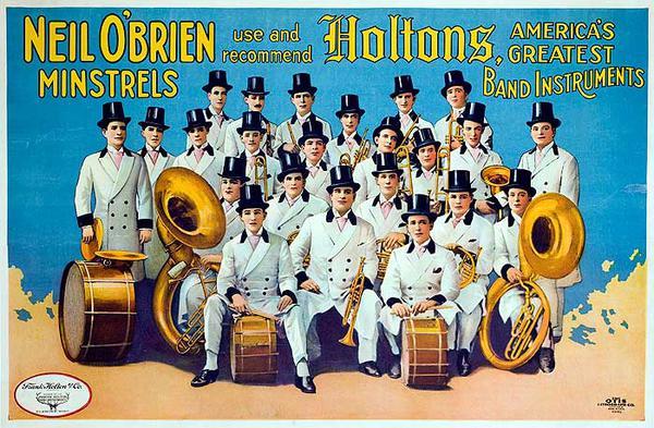 Original Vintage Holtons Minstrels Poster