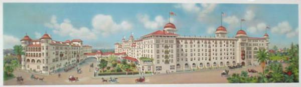 Original Pasadena Hotel Green 1911 Opening Advertising Poster