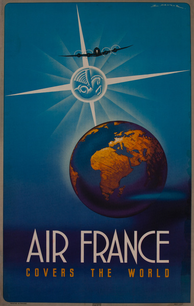 Air France Covers the World Original Travel Poster
