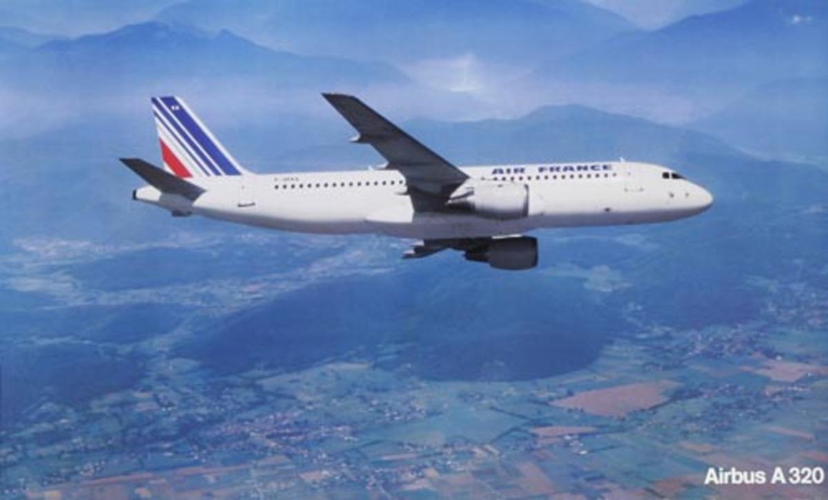 Air France Original Travel Poster Airbus 320