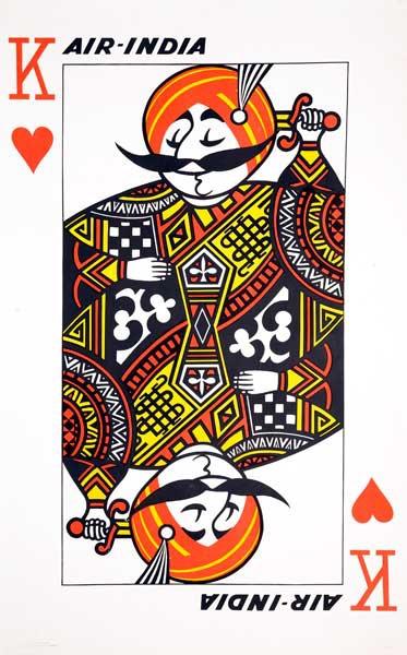 Air India Original Travel Poster Playing Card