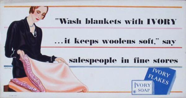 Ivory Soap Trolley Card Original Vintage Advertising Poster Blanket